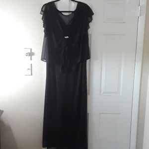 2 piece black full length gown